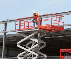 Where to find 43  4WD D F NM LEVEL JACKS SCISSOR LIFT in Chicago