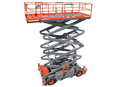 Rough Terrain Scissor Lift Rentals in Chicagoland, Naperville, St. Charles IL, Schaumberg, Rockford IL